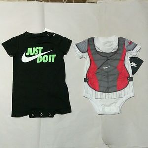 Infant Baby Nike Bodysuits Bundle, Size: 0_3 month